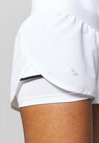 adidas Performance - CLUB - Sports shorts - white/silver/black - 3