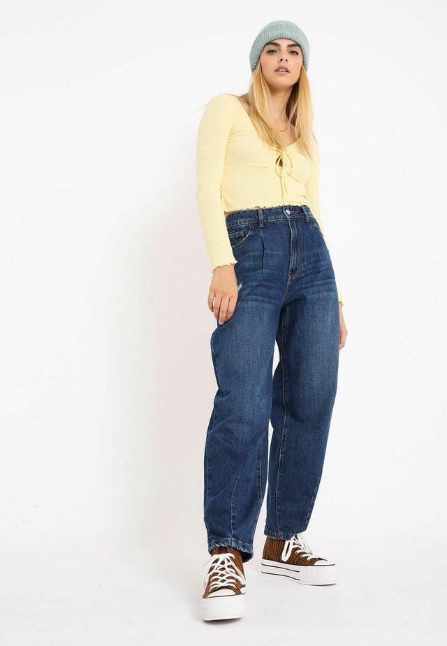MIT LANGEN ÄRMELN - Långärmad tröja - gelb