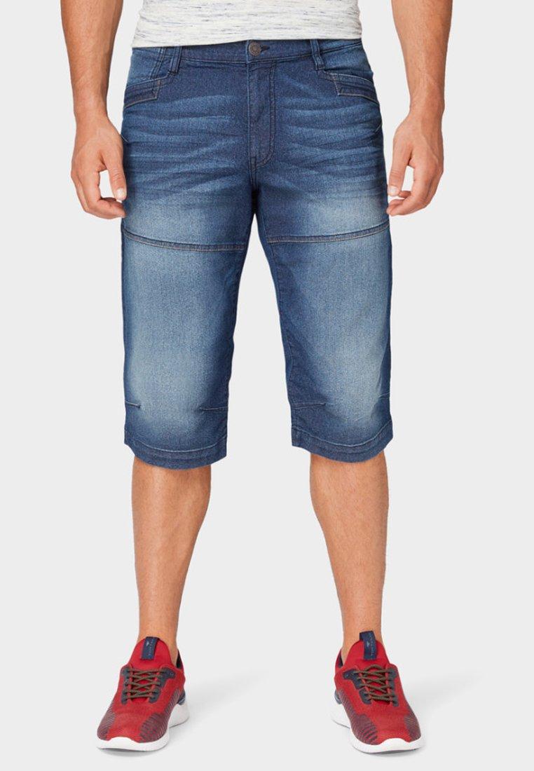 TOM TAILOR - MAX BERMUDA  - Denim shorts - mid stone wash denim