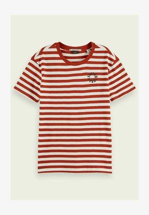 STRIPED TEE - Print T-shirt - red
