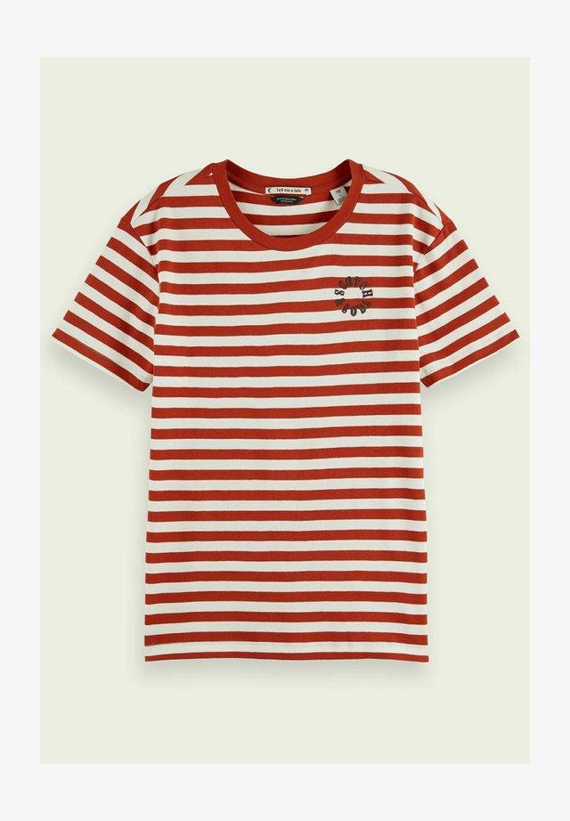 STRIPED TEE - T-shirt imprimé - red