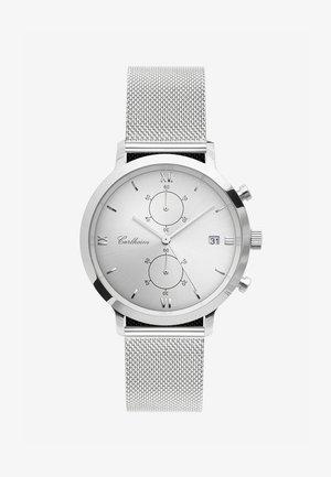 ADLER 42MM - Rannekello ajanottotoiminnolla - silver-silver