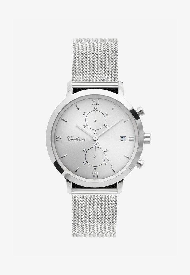 ADLER 42MM - Kronografklockor - silver-silver