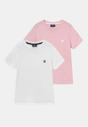 LEGACY BASICS CREW NECK 2 PACK UNISEX - Camiseta básica - light pink/white
