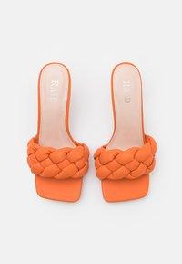 RAID - SANDRA - Heeled mules - orange - 5