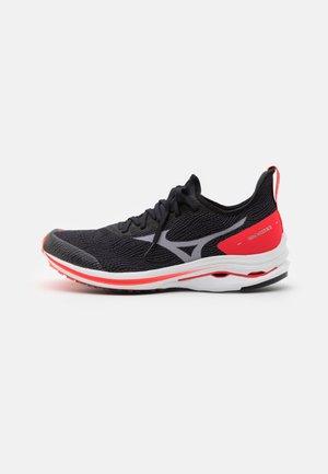 WAVE RIDER NEO - Zapatillas de running neutras - black/white/ignition red