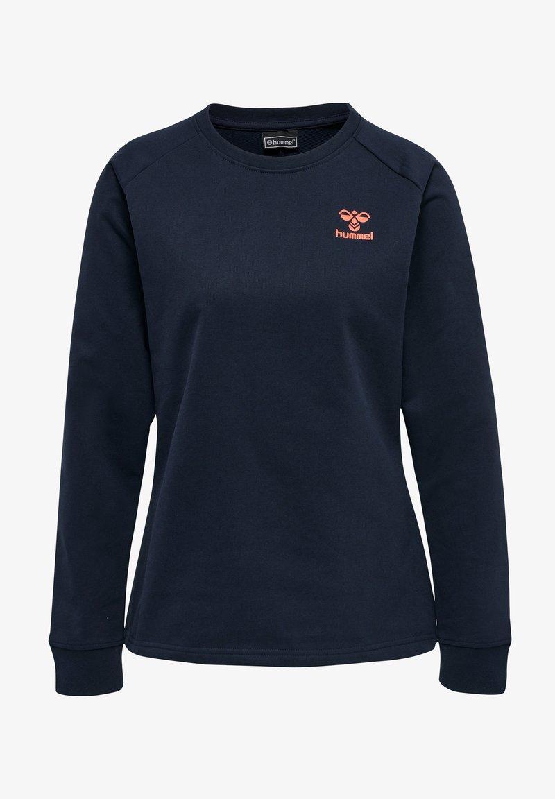 Hummel - HMLACTION - Sweatshirt - dark sapphire fiesta