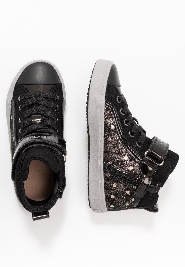 KALISPERA GIRL - Sneakers alte - black/dark silver