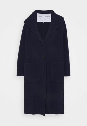 HOODED COAT - Classic coat - navy