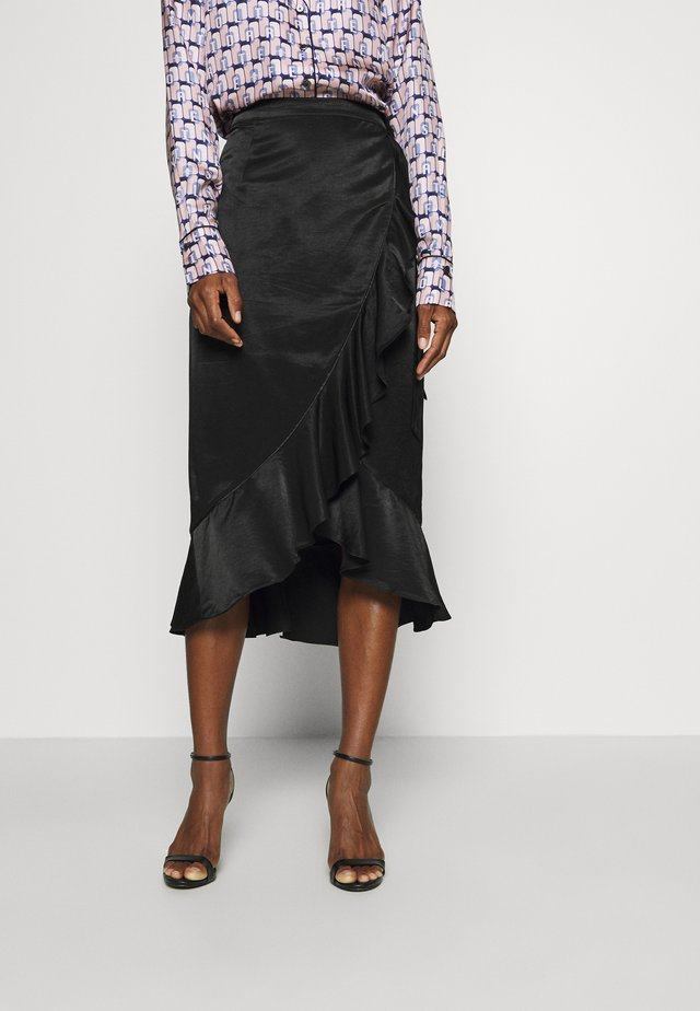ISADEE - Wrap skirt - black