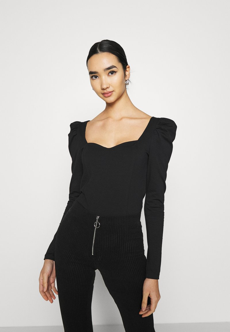 ONLY - ONLEMMA HEART - Long sleeved top - black