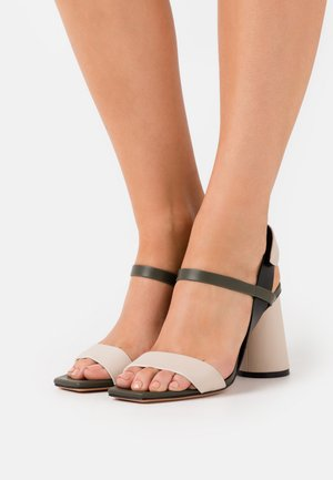 ACCORATO - High heeled sandals - beige