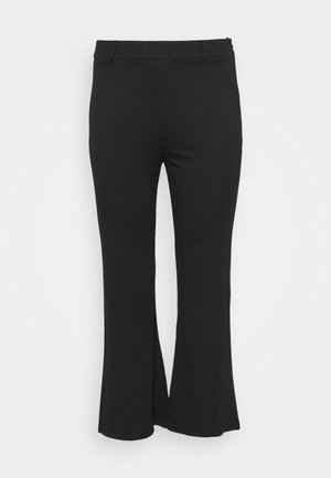 Flared PUNTO trousers - Bukse - black