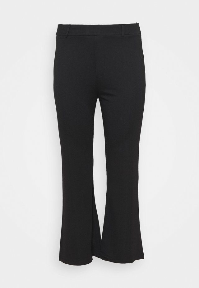 Flared PUNTO trousers - Trousers - black