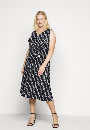 CARANA SLEEVELESS DAY DRESS - Jersey dress - lighthouse navy/colonial