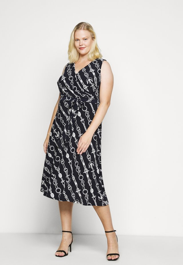 CARANA SLEEVELESS DAY DRESS - Jerseyjurk - lighthouse navy/colonial