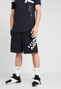 Under Armour - SPORTSTYLE WORDMARK LOGO - Sports shorts - black/white - 0