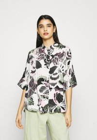 Monki - LUCA BLOUSE - Button-down blouse - white - 0
