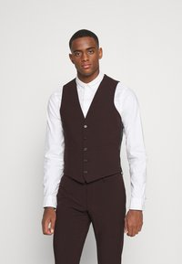 Isaac Dewhirst - THE FASHION SUIT 3 PIECE - Kostym - bordeaux - 4