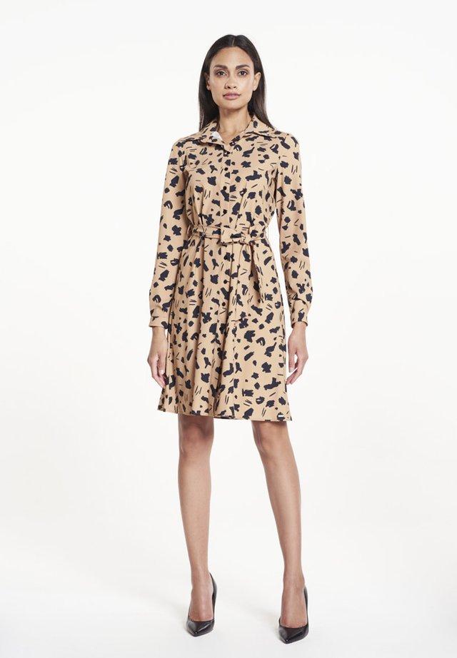 CATO JURK - Shirt dress - camel