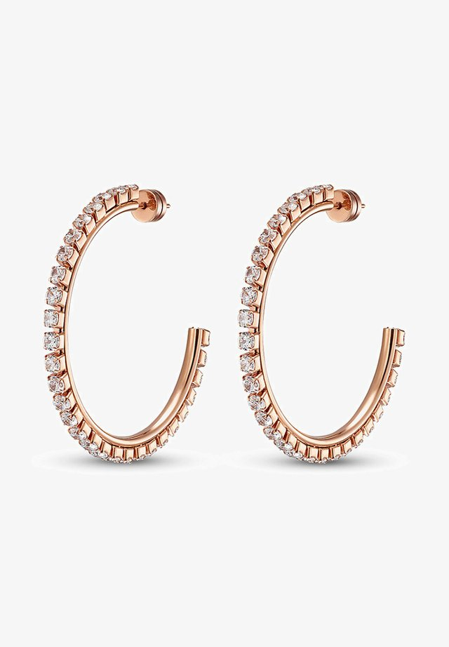 DAMEN-OHRSTECKER EDELSTAHL 60 ZIRKONIA - Earrings - roségold
