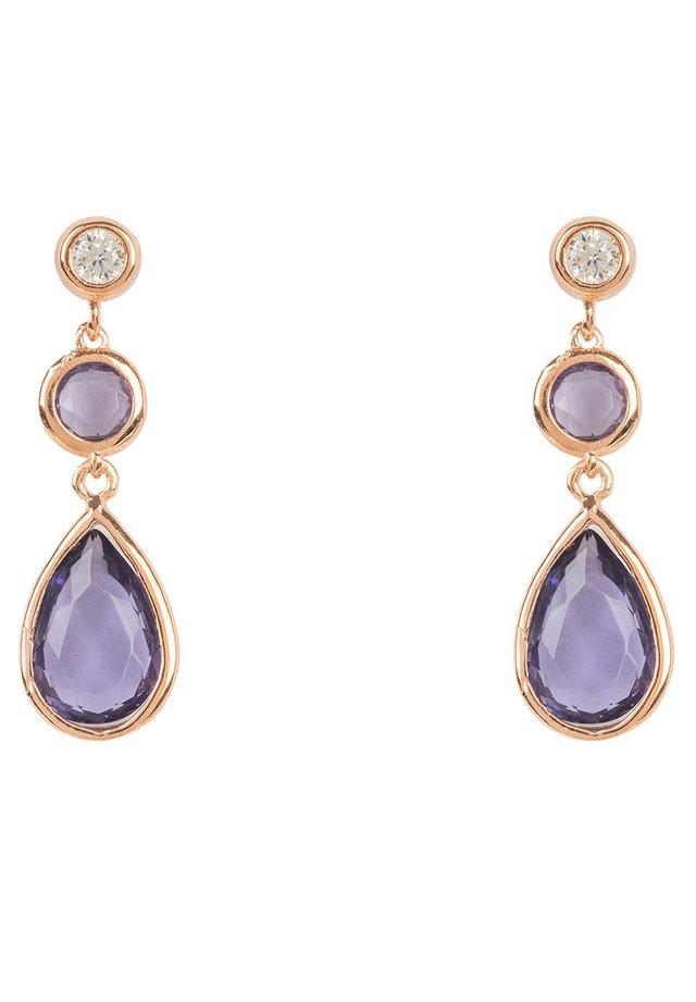 Boucles d'oreilles - violet