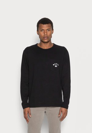 BRAND LONG SLEEVE - Pitkähihainen paita - black