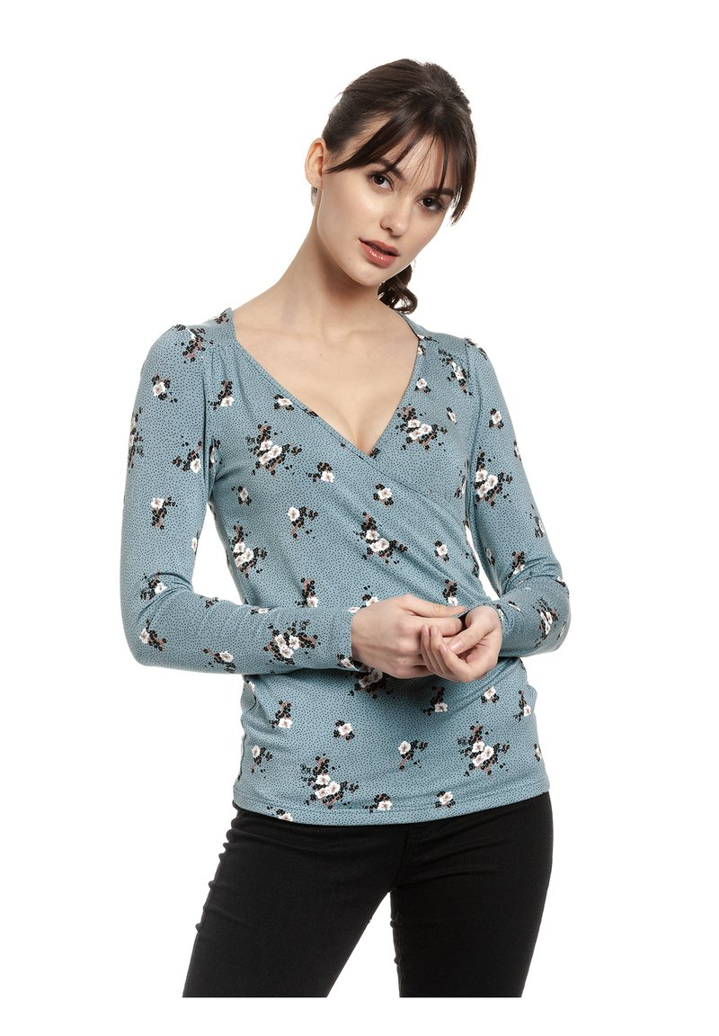Vive Maria - WAITING FOR YOU - Long sleeved top - blau allover