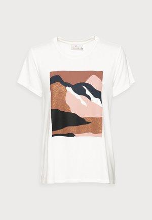 LANDY - T-shirt print - chalk