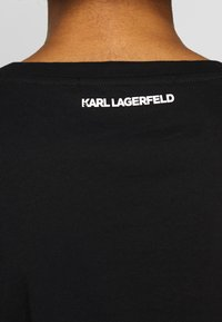 KARL LAGERFELD - ADDRESS LOGO POCKET - T-Shirt print - black - 3