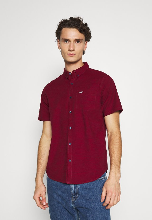 SLIM FIT - Koszula - burgundy