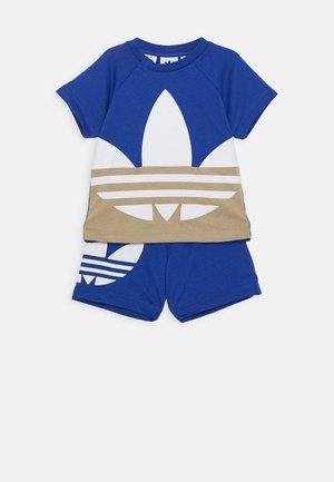 BIG TREFOIL SET - Szorty - royal blue/khaki/white