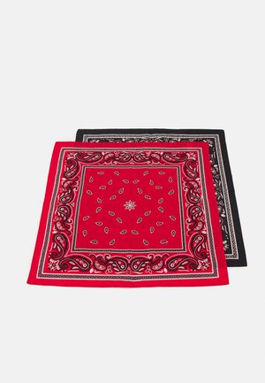 UNISEX 2 PACK - Foulard - black/red