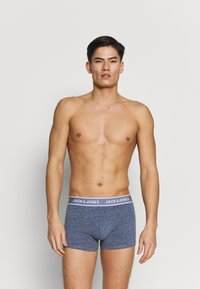 Jack & Jones - TRUNKS 3 PACK - Panties - navy blazer/dark grey melange - 4