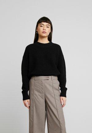 SLFBAILEY SLIT - Stickad tröja - black