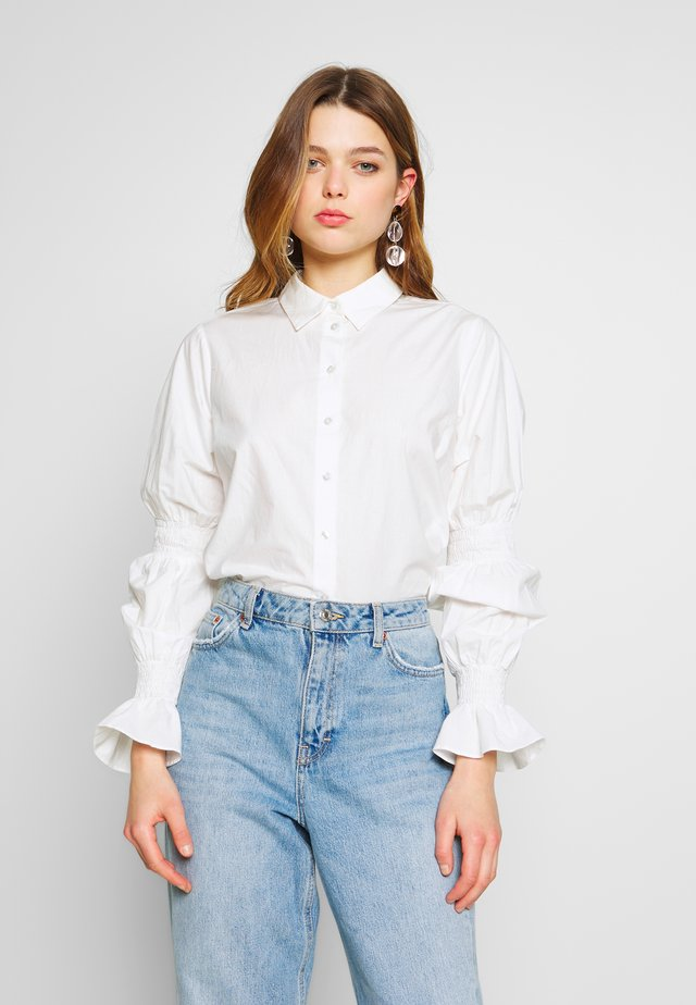 YASMALOU - Button-down blouse - star white