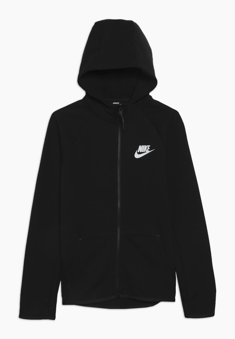 Nike Sportswear - TECH FLEECE ESSENTIALS - Zip-up hoodie - black/white