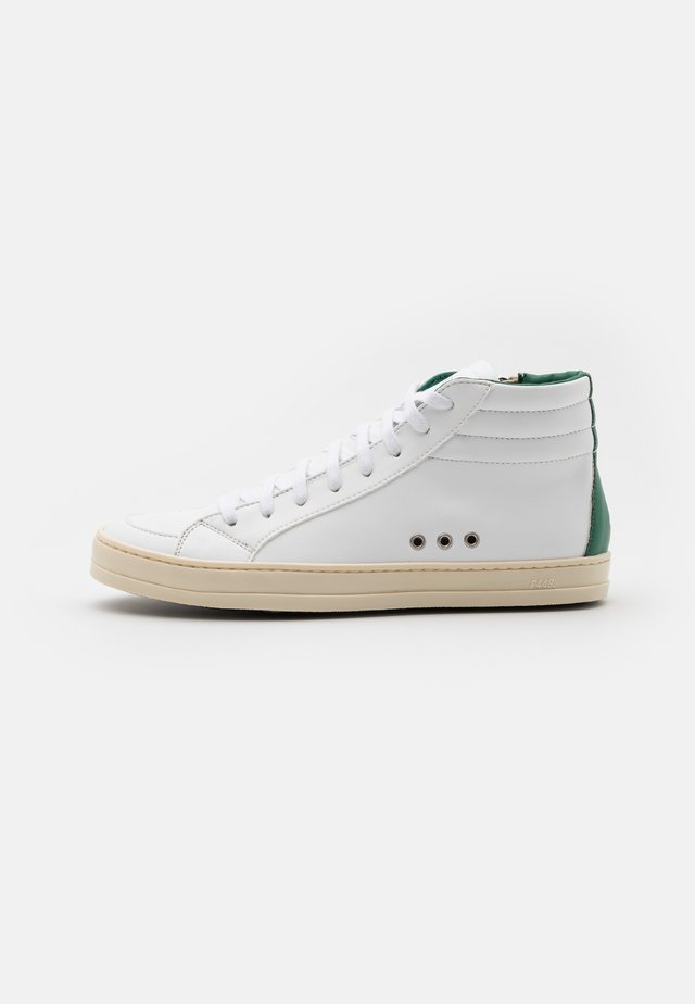 SKATE VEGAN UNISEX - Korkeavartiset tennarit - white/green