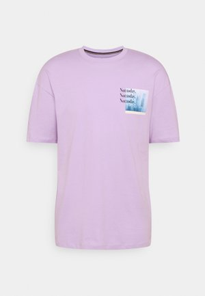 JORSARRISON TEE CREW NECK - Print T-shirt - lavender