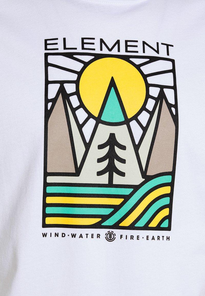 Element LOGEL - T-Shirt print - optic white/weiß t57EnQ