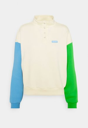 GRASS SKY TURTLENECK - Sudadera - cream/blue/green