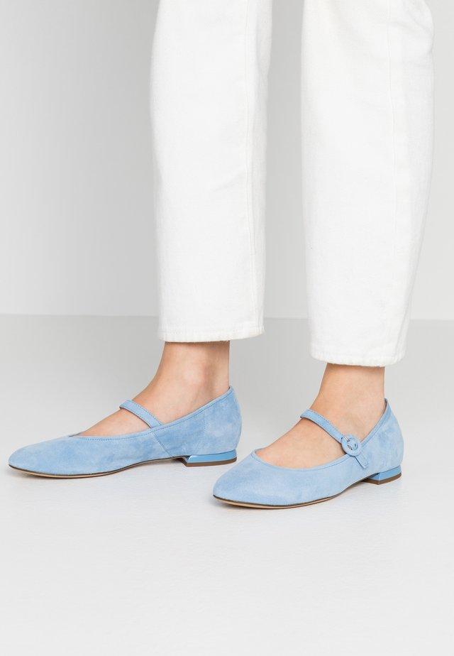 Ankle strap ballet pumps - sky