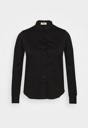 TINA - Button-down blouse - black
