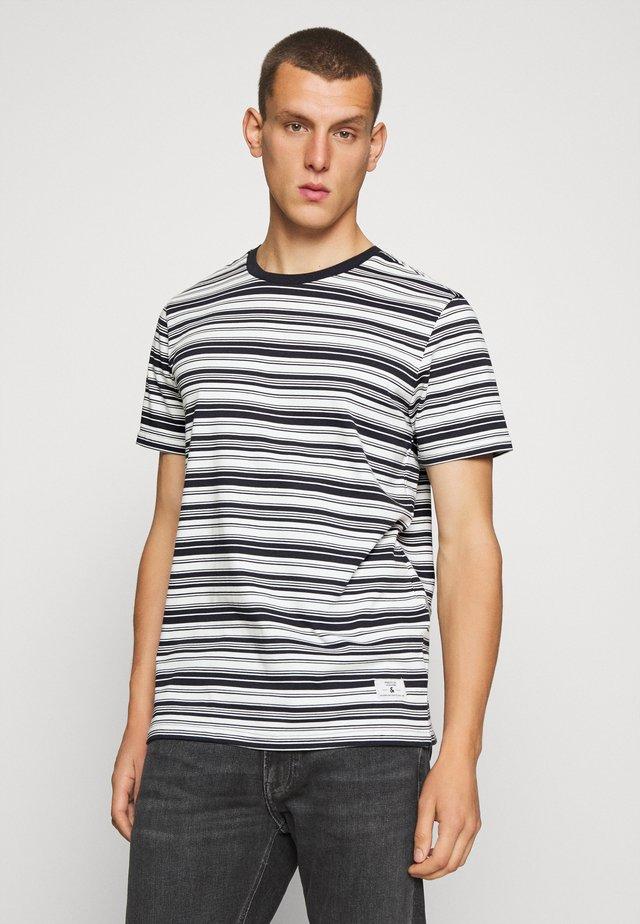 JPRBLAIAN STRIPE TEE CREW NECK - T-shirts med print - dark navy