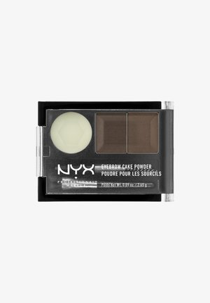 EYEBROW CAKE POWDER - Øjenbrynspudder - 2 dark brown/ brown