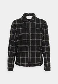 JONES CHECKED JACKET - Summer jacket - anthracite black