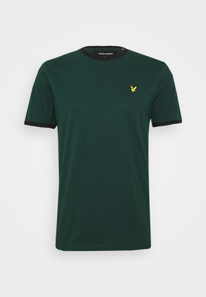RINGER TEE - Basic T-shirt - jade green/black