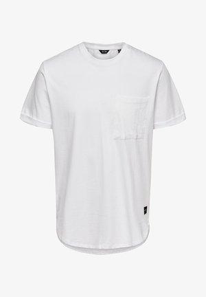ONSGAVIN LIFE TEE - T-shirt - bas - bright white