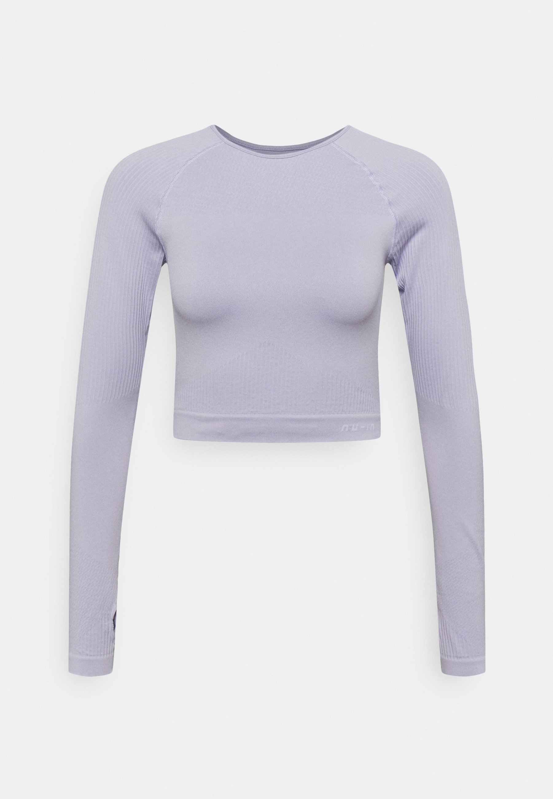 Women SEAMLESS TWO TONE LONG SLEEVE CROPPED - Long sleeved top