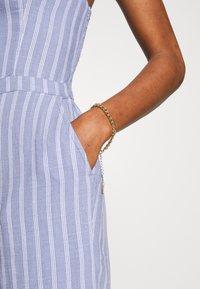Abercrombie & Fitch - TIE FRONT - Jumpsuit - blue/white - 5